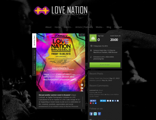 Love Nation Brand Development – Logo, Web Development, E-commerce, Social media