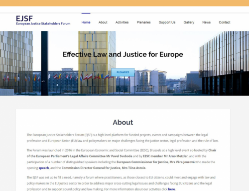 Website for the European Justice Stakeholder Forum (EJSF)