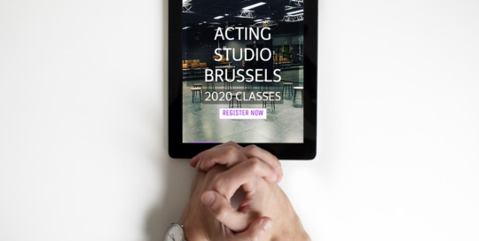 Acting Studio Brussels Tablet Mockup